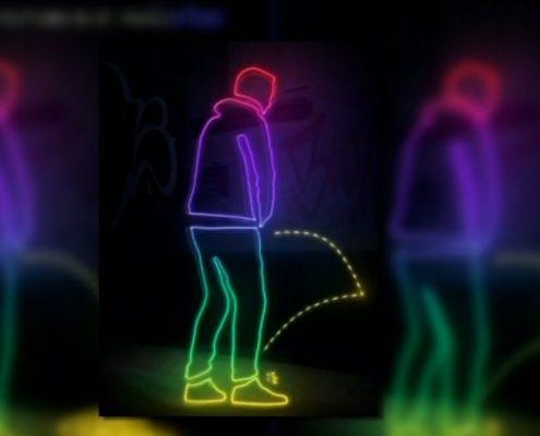 Illustration of how anti urine paint works