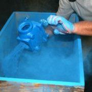 powder coating ZA fluidised bed application