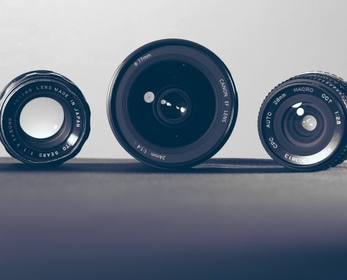 anti reflective coating on three camera lenses