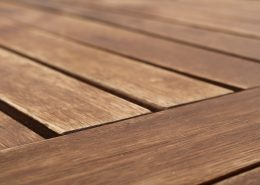 wood coatings on a decking to preserve it
